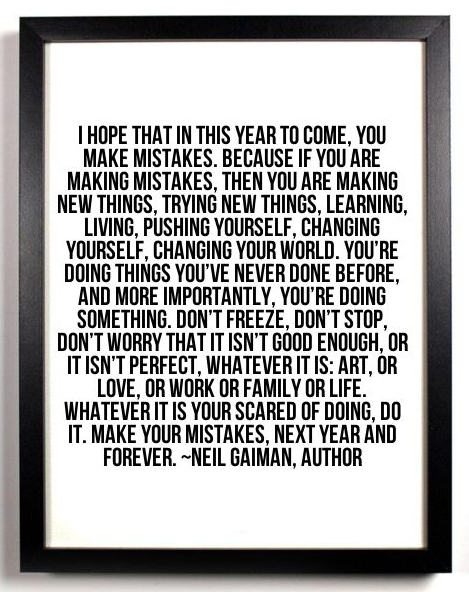 Neil Gaiman - Make Mistakes