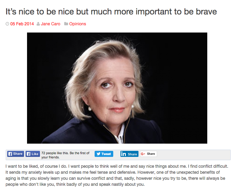 Jane Caro - It's Important To Be Brave